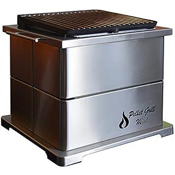 Barbacoa de pellet grill mini inox