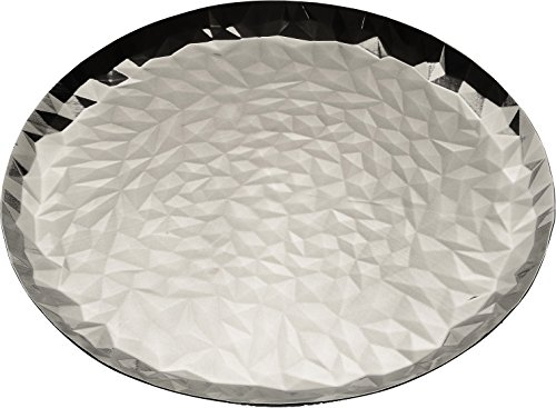 Alessi ''Joy n 3'' Round Tray in 18/10 Stainless Steel Mirror Polished, Silver by Alessi