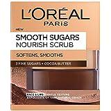 L'Oreal Paris Smooth Sugar Nourish Cocoa Face and Lip Scrub, 50 ml