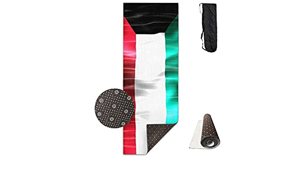 Amazon.com: BINGZHAO Kuwait Honorable Flag Water Exercise Yoga Mat For Pilates,Gym,Fitness,Travel & Hiking: Home & Kitchen