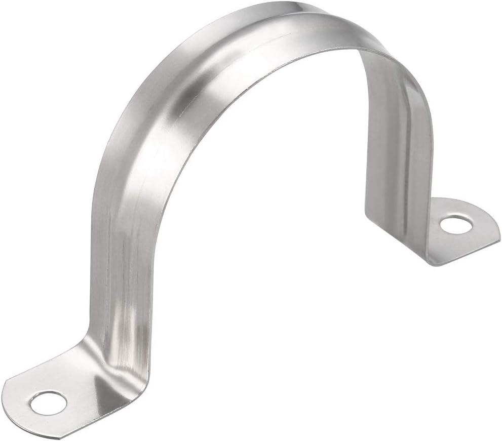 Correa r/ígida para tuber/ía acero inoxidable 304, 2 agujeros, piezas Sourcingmap