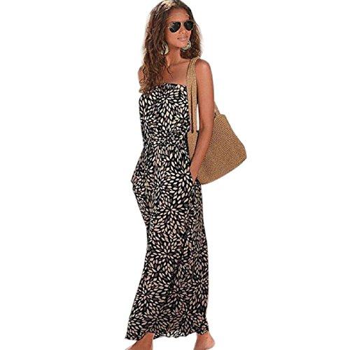 Printed Maxi Tube Dress (Tonsee Summer Women Fashion Printed Tube Top Long Dress (S))