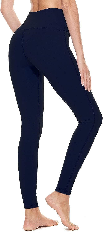 BALEAF Womens High Waist Yoga Pants Workout Running Capri Legging Inner Pocket