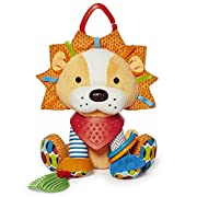 Skip Hop Bandana Buddies Baby Activity and Teething Toy with Multi-Sensory Rattle and Textures, Lion