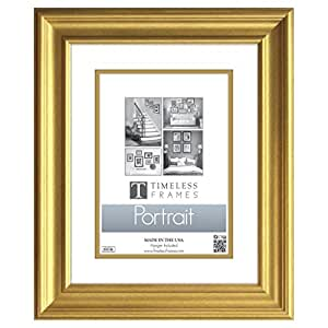"""Timeless Expressions Lauren Portrait Wall Frame, 8 x 10"""", Gold"""