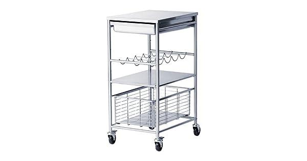 Amazon.com: IKEA GRUNDTAL – carro de cocina, acero ...