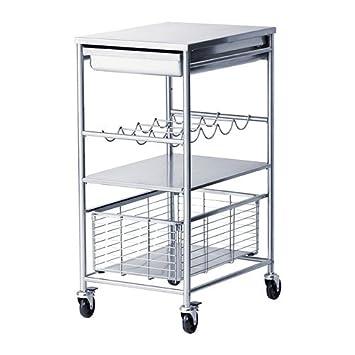 IKEA GRUNDTAL - carrito de cocina, acero inoxidable - 54 x 41 x 90 cm: Amazon.es: Hogar