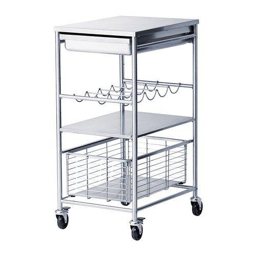 IKEA GRUNDTAL - carro de cocina, acero inoxidable - 54x41x90 cm: Amazon.es: Hogar