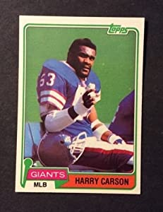 1981 TOPPS #475 - HARRY CARSON - New York GIANTS - Hall of Famer - Near Mint