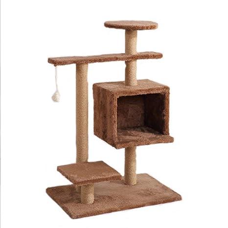 LDPB Armazón para Gatos, pequeño, Multicapa de Felpa, Torre ...