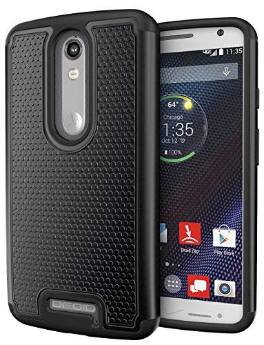 (Droid Turbo 2 Case, Cimo [Shockproof] Case Heavy Duty Shock Absorbing Dual Layer Protection Cover for Motorola Verizon Droid Turbo 2 / Moto X Force (2015) - Black)