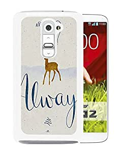 New Fashion Custom Designed Cover Case For LG G2 With harry potter always White Phone Case