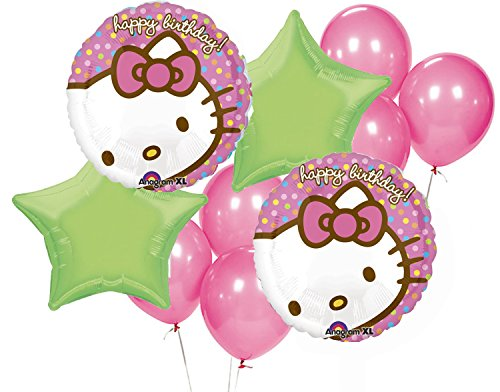 18 Inch Hello Kitty Flowers - Hello Kitty Birthday Party Balloon Package -Includes (2)18