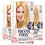 Clairol Nice'n Easy Permanent Hair Color, 10 Extra Light Blonde, Pack of 3