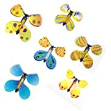 Apollo's Products 8 Pack Magic Butterfly Flying Out of a Book or Card / Fairy Rubber Band Powered Wind Up Butterfly Toy Great Surprise for Wedding and Birthday Gifts