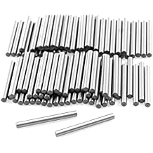 uxcell 100 Pcs Stainless Steel 1.5mm x 15.8mm Dowel Pins Fasten Elements