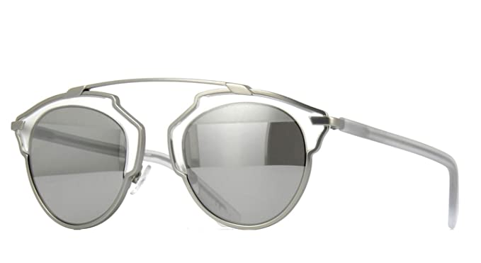 32d50b65f835 Image Unavailable. Image not available for. Color  New Christian Dior SO  REAL RMR LR Matte Silver Crystal Silver Sunglasses