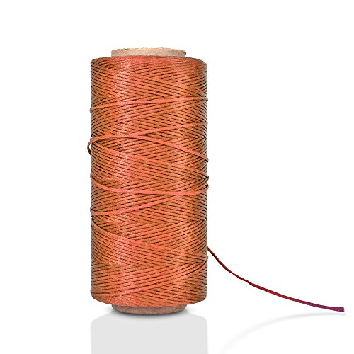 Flat Waxed Thread Brown Handicraft