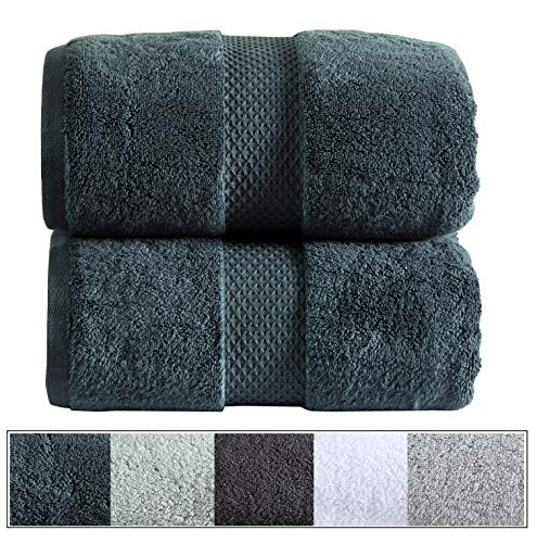 Royal Ascot 100% Zero Twist Cotton Towel Set 2 pc Set- 2 Large Bath Sheets, 550 GSM, Softer Than a Cloud, Absorbent, Machine Washable, Plush, SPA Towels