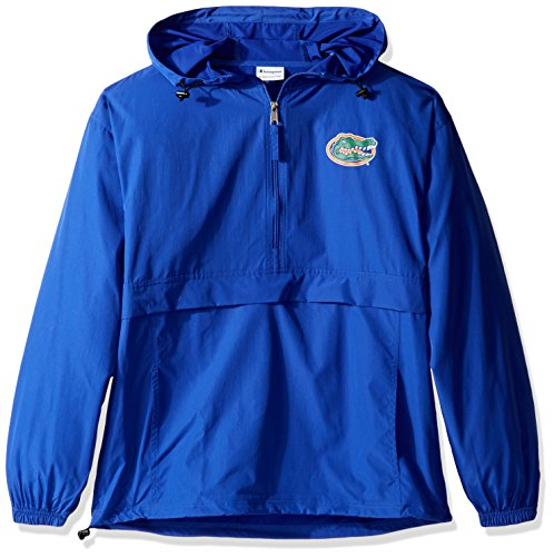 Half Zip Wind Jackets - Champion NCAA Men's Half Zip Front Pocket Packable Jacket Florida Gators Medium