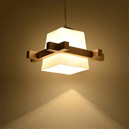 Lámparas de estilo rústico americano Lámpara japonesa de madera nórdica y artes creativas, lámparas de madera originales minimalistas para comedor / ...