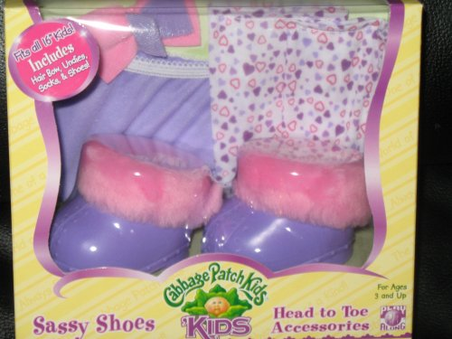 Cabbage Patch Kids Sassy Shoes Head to Toe Accessories Purple Clogs