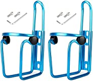 2 Pack Bike Water Bottle Holder, Lightweight Aluminum Bicycle Water Bottle Cages Brackets with Screws for Stan