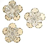 Stratton Home Decor SHD0013 Flowers Wall Decor, Set of 3, Rustic