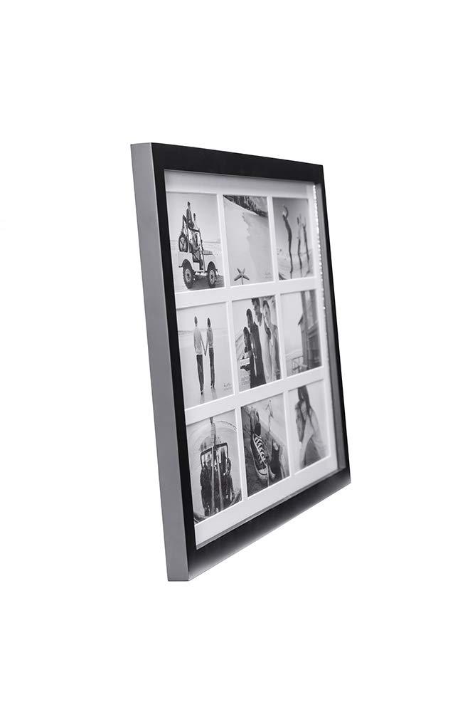 Malden Marco linear de madera mate, 9 aberturas, para fotos 4x6 ...