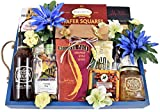 Breakfast In Bed Gift Basket - Deluxe Wooden Tray With Rope Hndles Loaded With Buttermilk Pancake Mix, Maple Syrup, Bluebery Jam, Pecan Marmalade & More, 9 lb