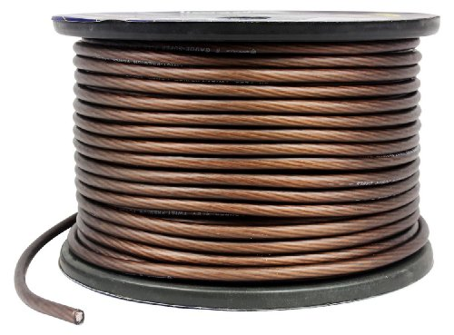 Price comparison product image Rockville R8G250-Black 8 Gauge 35 Feet Black Amp Power Wire with Cool Cable Technology - Ultra-Pure Copper Conduction For Maximum Signal Transfer