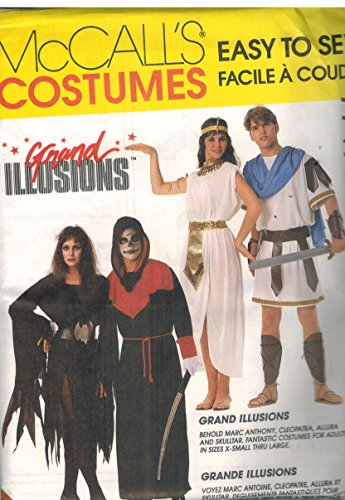 7747 New McCall's Sewing Pattern Costumes Easy to Sew Grand Illusions Cleopatra Mark Anthony Allura Skulltar Size Extra Small 30.5-31.5 ()
