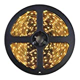 3528 Neutral White LED Light Strip - 300 LEDs, 4000K, 72 Lumens & 1.3 Watts per Foot, 12V DC, Adhesive Backed - for Kitchens, Cabinets, Displays, Bedrooms, Crown Molding & More