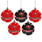 Tampa Bay Buccaneers 2016 5 Pack Shatterproof Ball Ornament Set