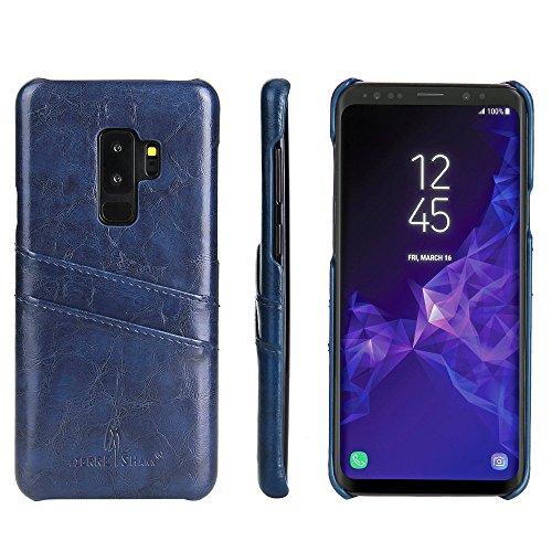 AICEDA Samsung Galaxy S9 Case,Samsung Galaxy S9 Case,Design Premium PU Leather Wallet Snap Case Design Design Flip Case Replacement Samsung Galaxy S9 Dark Blue ()