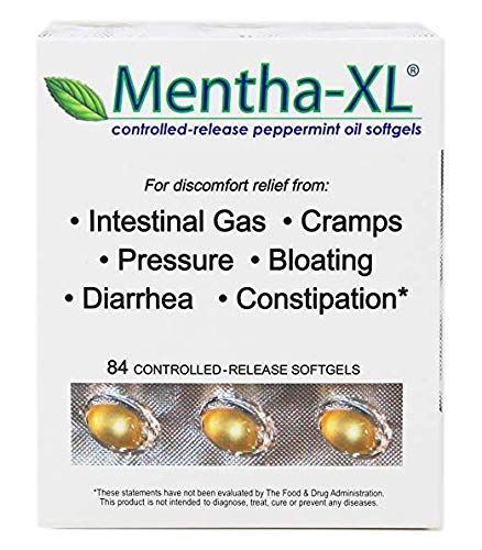 Mentha-XL 84cnt Softgels for IBS - - #1 Gastroenterologist Recommended Brand for IBS
