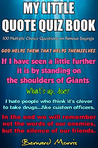 My Little Quote Quiz Book: 100 Multiple-Choice Questions - Kindle