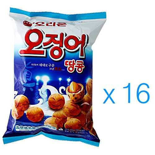 Squid Snack Peanut Ball 98g (Pack of 16)