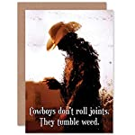 Wee Blue Coo New Birthday Cowboys ROLL Joints Tumbleweed Art Greetings Card Gift CP1669