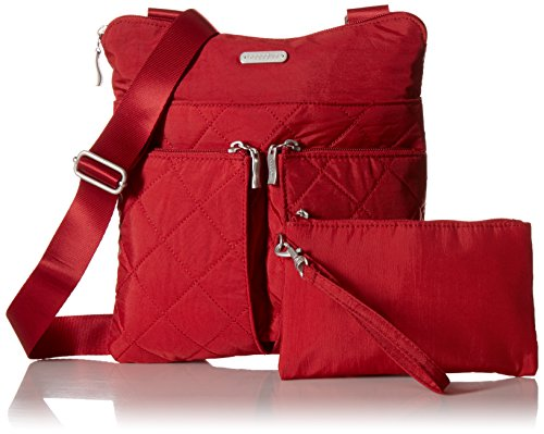 with Horizon Red Crossbody Baggallini Quilted Rfid Quilt q6xxtUw8F