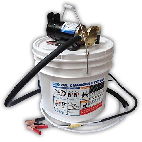 Jabsco 17800-2000 Marine Porta Quick Oil Changer, Flexible Impeller Pump, Reversing Switch 3.5 Gallon, 12-Volt, Non CE, White (Renewed)
