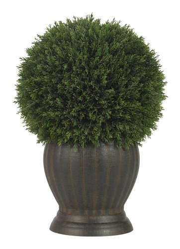 Nearly Natural 4123 Cedar Ball Topiary Decorative Silk Plant, Green by Nearly Natural