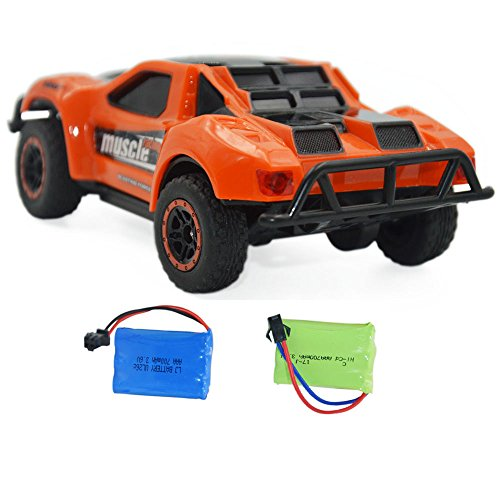 (Blomiky 4WD 9MPH High Speed Racing RC Car 1/43 Scale 2.4GHz 4WD Electric Mini Remote Control Truck Vehicle D143 Orange)