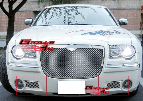 (APS Fits 05-10 Chrysler 300C Lower Bumper Stainless Steel Mesh Grille #R75309S)