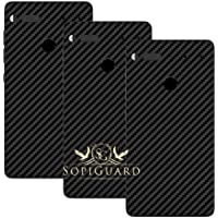 SopiGuard Essential Phone PH1 Carbon Fiber Rear Panel Precision Edge-to-Edge Coverage Easy-to-Apply Vinyl Skins (3 x Carbon Black)