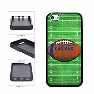 Chicago or Die Football Field TPU RUBBER SILICONE Phone Case Back Cover Apple iPhone 5c