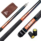 CUESOUL 57 Inch 2-Piece Hardwood Canadian Pool Cue 19-21oz Billiard Cue Stick with Irish Wrap (CSPC010)