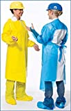 VR Protective Wear Vinyl Replacement Gown openback w/elastic-cuffs 6 mil safety yellow X-large 45x50 inches , (Pack of 50) PolyConversions, Inc. 42655