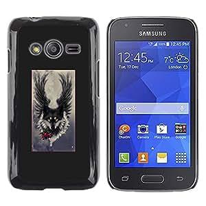 Exotic-Star ( Angel Grey Hound Dog Romantic ) Fundas Cover Cubre Hard Case Cover para Samsung Galaxy Ace4 / Galaxy Ace 4 LTE / SM-G313F