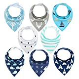 YOOFOSS Baby Bandana Drool Bibs for Teething and Drooling 8 Pack Soft and Absorbent for Boys & Girls